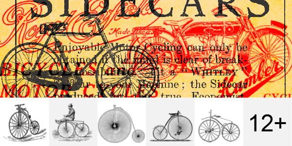12 Vintage Cycle PS Brushes
