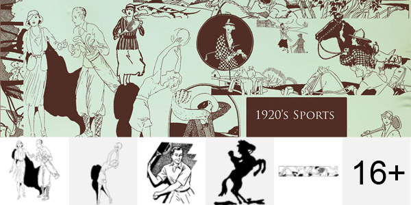1920s Sport Photoshop Brushes