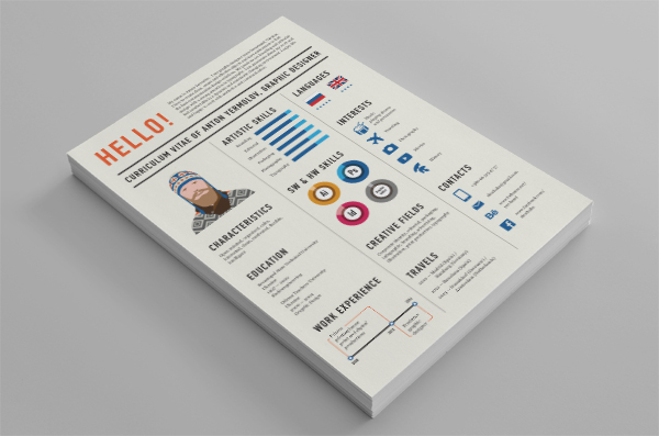 one page graphic design resume sample