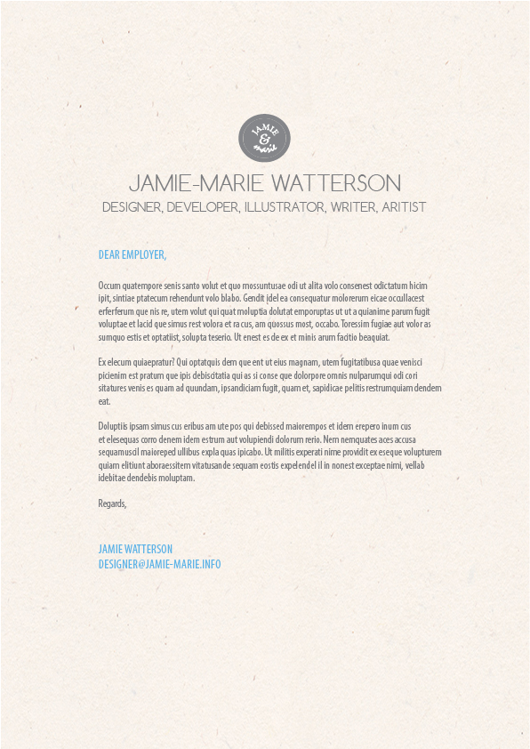 graphic design cover letter example photo credit