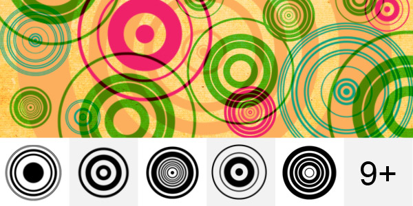 Retro Abstract Circle Brushes