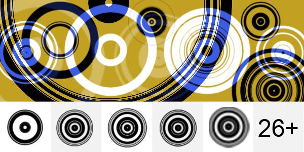 Retro Circles Brushes - slaughterdbc