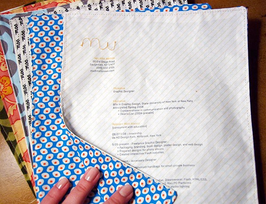 Sewn Fabric Graphic Design Resume