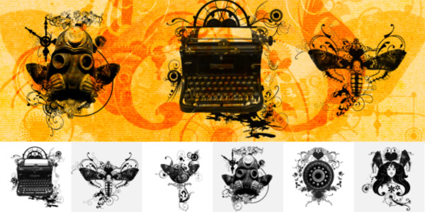 6 Steampunk PS Brushes