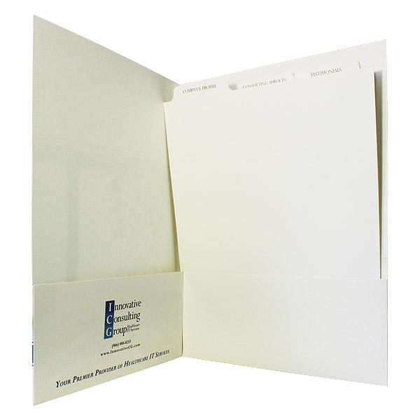 Presentation Folder with Index Tabs