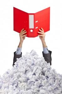 Man with Folder Under Paper