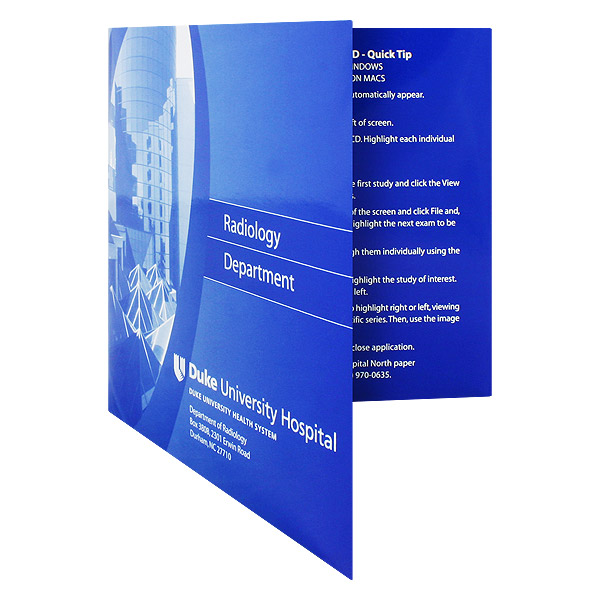 Presentation Folder with CD Pocket