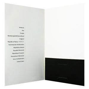 A Small Folder with a CD Sleeve.