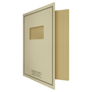 Die Cut Window Folder