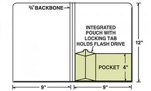 Folder with Flash Drive Slot