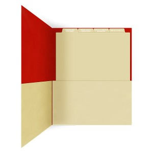 Pocket Folder with Files