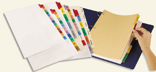 Tab Binder Dividers