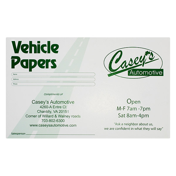 Car Dealership Document Holder/Folder