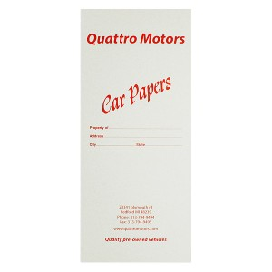 Car Document Holder With Marketing