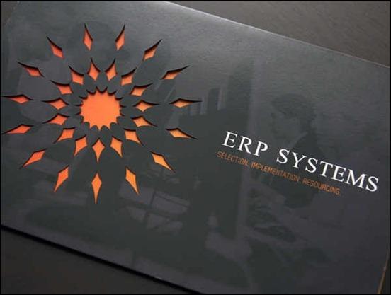 Brochure with Intricate Die-Cut Design