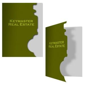 Folder with Key-Shaped Die-Cut