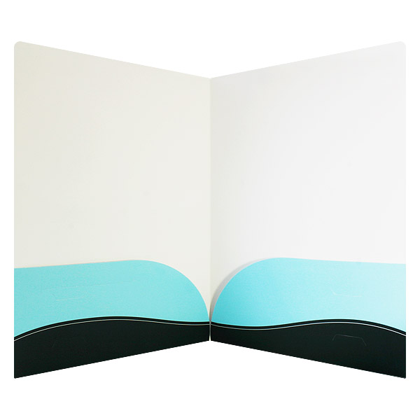 Curved Pocket Folder