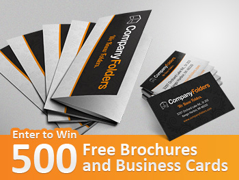 Giveaway free custom brochures and business cards colourmoves