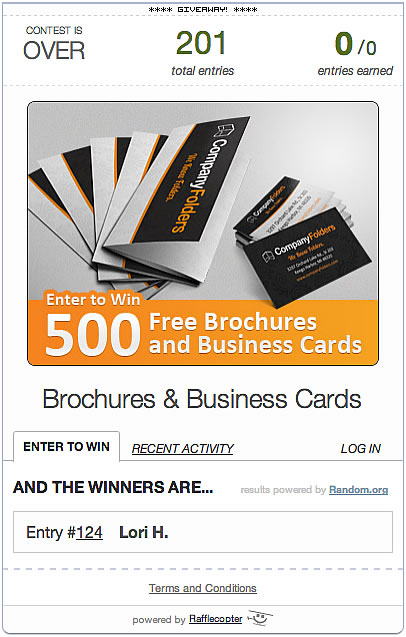 Free Custom Brochures and Business Cards