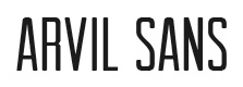 Arvil Sans font