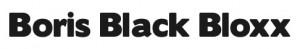 Boris Black Bloxx font
