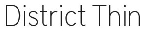 District Thin font