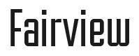 Fairview font