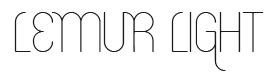 Lemur Light font