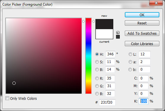 Setting 100% Black in Photoshop Color Picker