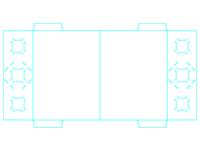 Freebie: 2 Vertical Pocket Folder Template