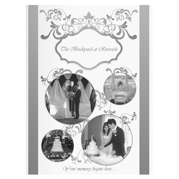 Black and White PMS Printed Wedding Folder