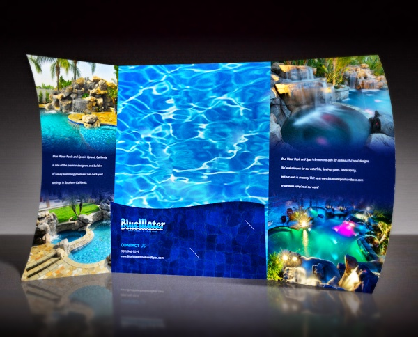 Blue Water Pools and Spas Presentation Folder