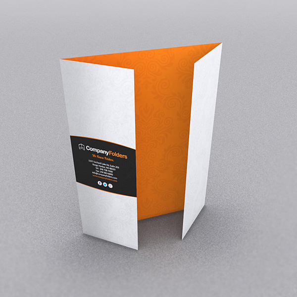 Folded Brochure Freetrifoldbrochuremockup Set Of Trifold Brochure