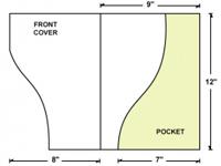 Serpentine Cut Right Pocket Presentation Folder