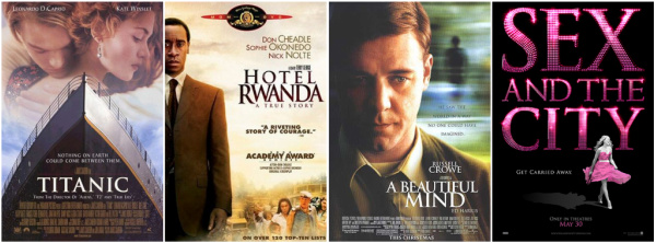 Worst Fonts Example - Trajan (Movie Posters)