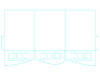 Freebie: Tri-Panel Curved Pocket Folder Template