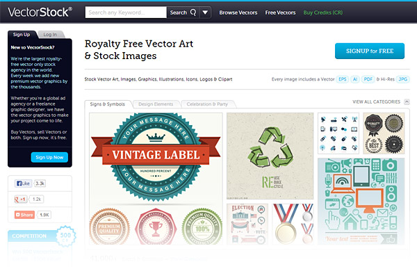 Best Stock Photo Sites - VectorStock