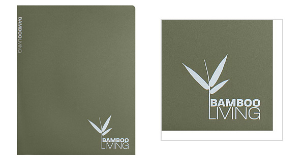 Bamboo Living Folder with Combination Logo Style