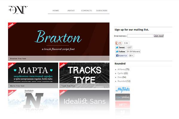 Best Free Font Sites - Font Fabric