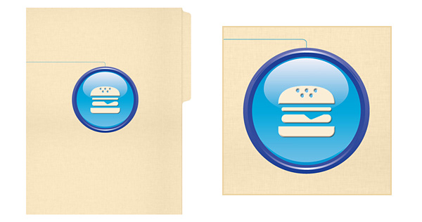 Hamburger Folder with Brandmark Logo Style