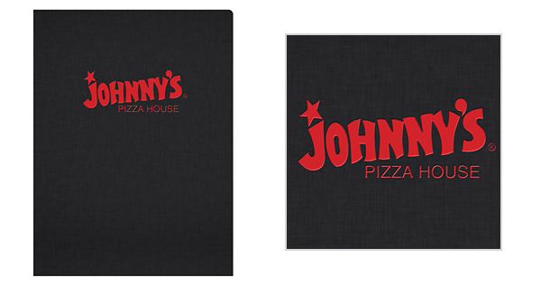 Johnny's Pizza House Folder with Wordmark Logo Style
