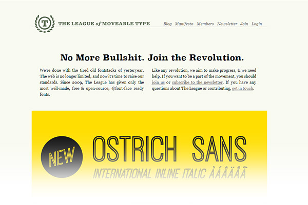 Best Free Font Sites - The League of Moveable Type