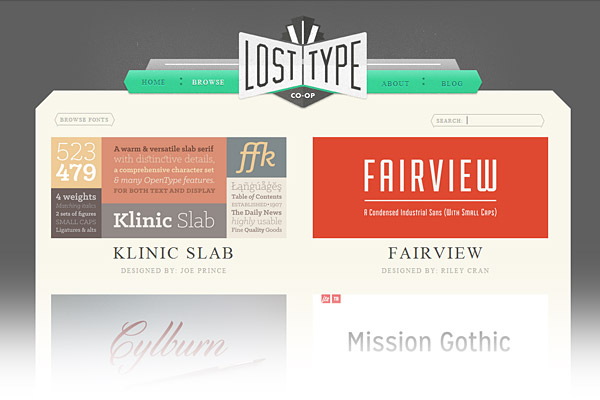 Best Free Font Sites - Lost Type