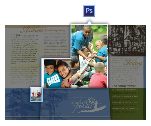 Adobe Illustrator vs. Photoshop vs. InDesign - Manipulating Photos