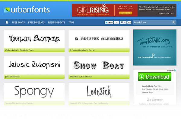 Best Free Font Sites - Urban Fonts