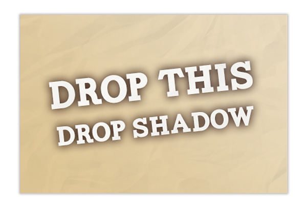 Bad Print Design Trends - Poor Use of Drop Shadow