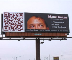 Bad Print Design Trends - Billboard with QR Code
