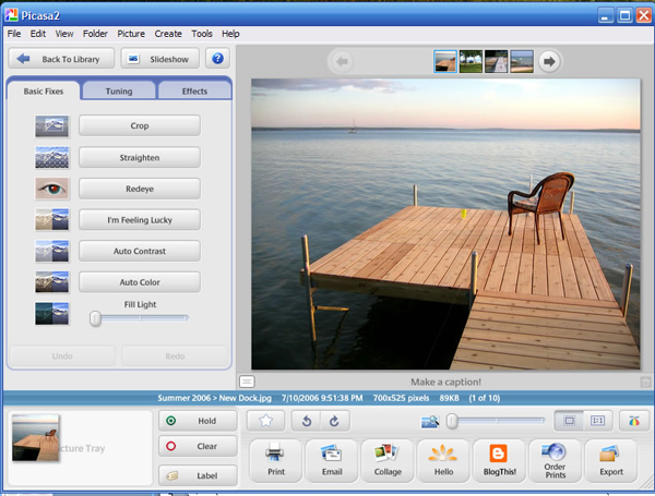 Free Photoshop Alternatives for Windows - Picasa