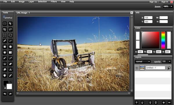 Edit image online like photoshop