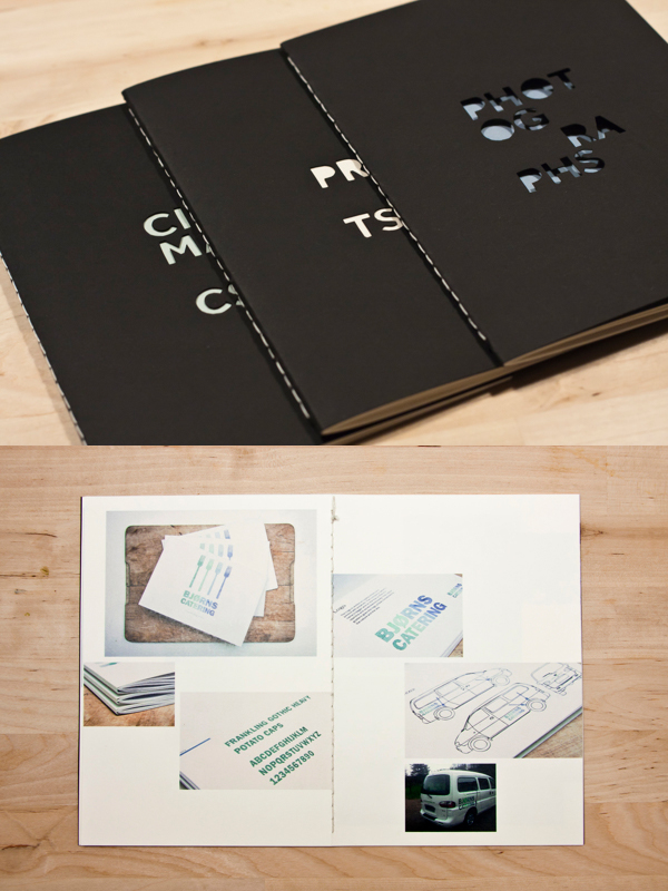 Printed Graphic Design Portfolio Example - Katrin Kreiner